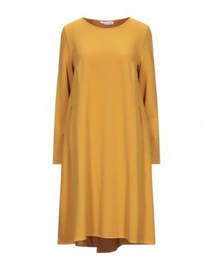 Платье до колена CAFèNOIR. Цвет: охра