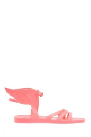 Розовые сандалии с крыльями Ikaria Ancient Greek Sandals. Цвет: розовый