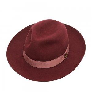 Шляпа федора CHRISTYS. Цвет: бордовый