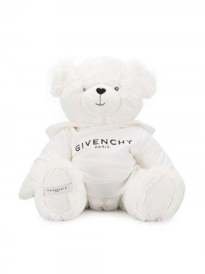 Мягкая игрушка с вышитым логотипом Givenchy Kids. Цвет: белый