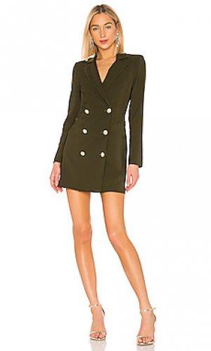Платье блейзер milano Nookie. Цвет: оливковый