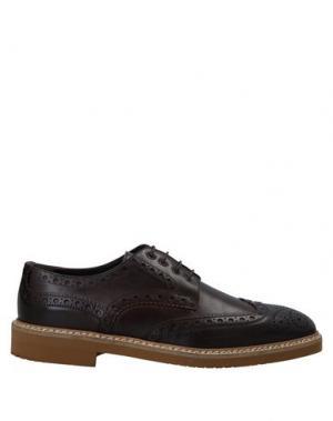 Обувь на шнурках BALDININI. Цвет: какао