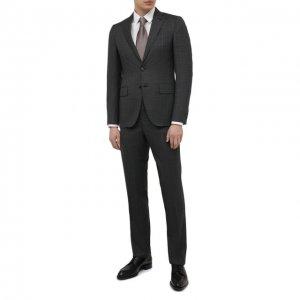 Шерстяной костюм Luciano Barbera. Цвет: серый
