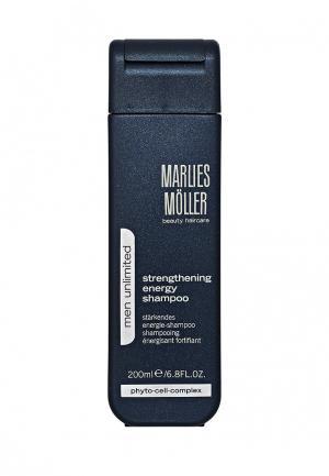 Шампунь Marlies Moller Men Unlimited укрепляющий для мужчин 200 мл. Цвет: белый