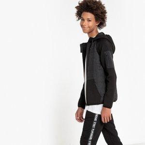 Свитшот-куртка LaRedoute. Цвет: черный