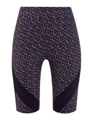 Эластичные шорты-леггинсы с фирменным принтом BURBERRY. Цвет: мульти