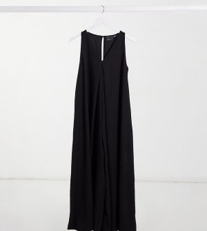 Черный свободный комбинезон в стиле минимализма с V-образным вырезом ASOS DESIGN Maternity