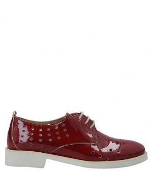 Обувь на шнурках CALPIERRE. Цвет: кирпично-красный