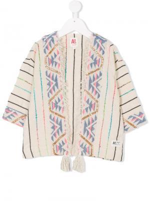 Накидка с вышивкой American Outfitters Kids. Цвет: бежевый