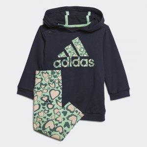 Комплект: платье и леггинсы Performance adidas. Цвет: розовый