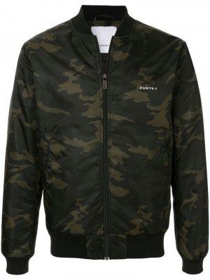 Камуфляжная куртка-бомбер Ports V. Цвет: зеленый