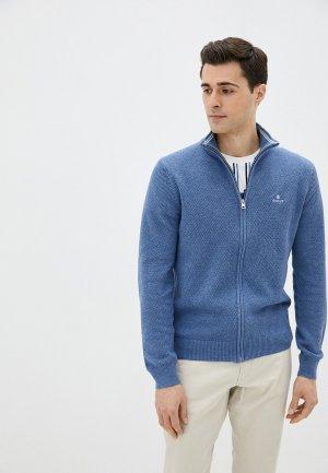 Кардиган Gant. Цвет: голубой