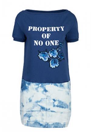 Платье MYTWIN. Цвет: синий