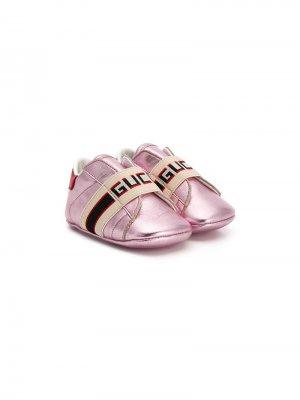Пинетки Ace Gucci Kids. Цвет: розовый