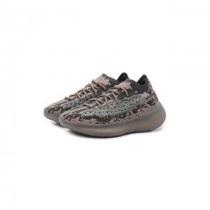 Кроссовки Yeezy Boost 380 Stone Salt adidas Originals. Цвет: коричневый