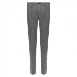 Шерстяные брюки Altea. Цвет: серый