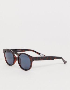 Солнцезащитные очки в блестящей черепаховой оправе и с поляризованными стеклами Levis-Коричневый Levi's