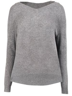 Кашемировый пуловер DOROTHEE SCHUMACHER. Цвет: серый