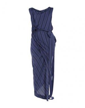 Длинное платье VIVIENNE WESTWOOD ANGLOMANIA. Цвет: синий