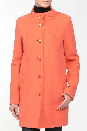 Пальто LANITA. Цвет: оранжевый