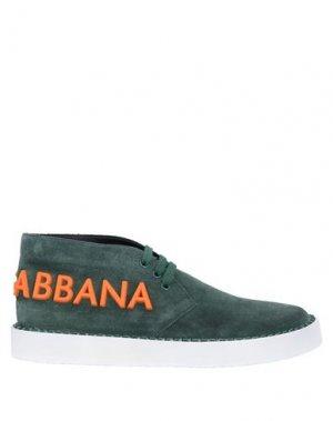 Кеды и кроссовки DOLCE & GABBANA. Цвет: зеленый