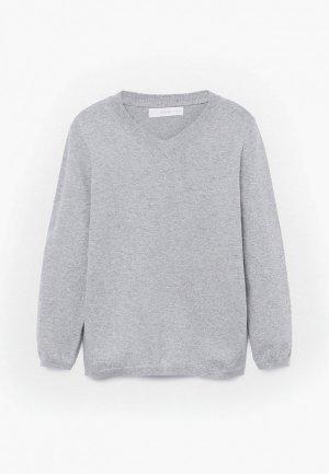 Пуловер Mango Kids - TENPICO. Цвет: серый