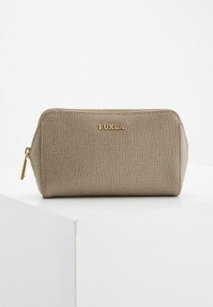 Косметичка Furla ELECTRA. Цвет: серый