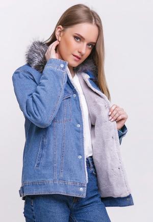 Куртка джинсовая Dasti MP002XW18ZXY. Цвет: синий