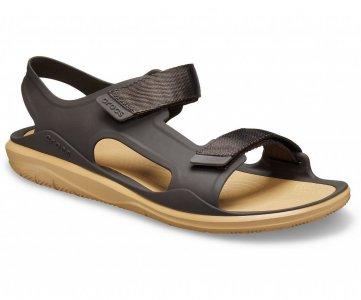 Сандалии мужские CROCS Mens Swiftwater™ Expedition Sandal Espresso/Tan арт. 206526. Цвет: espresso/tan