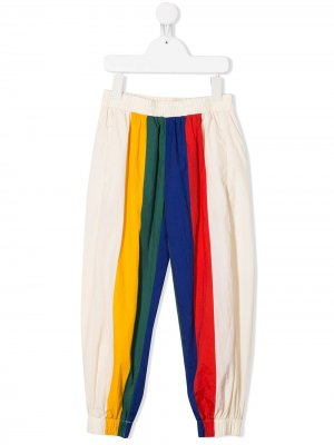 Спортивные брюки в стиле колор-блок Bobo Choses. Цвет: нейтральные цвета