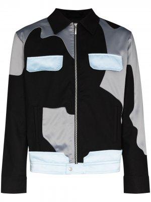 Куртка на молнии в стиле милитари AV Vattev. Цвет: черный