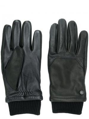 Перчатки с отделкой в рубчик Canada Goose. Цвет: чёрный