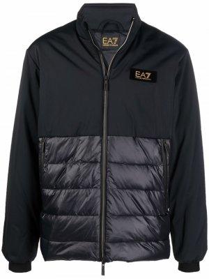 Logo-patch zip-up jacket Ea7 Emporio Armani. Цвет: черный