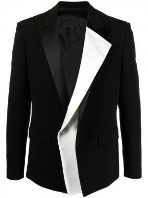 Многослойный пиджак Balmain. Цвет: eab noir