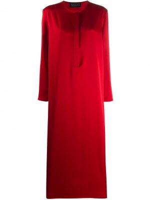 Расклешенное платье с длинными рукавами Gianluca Capannolo. Цвет: красный