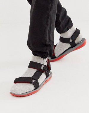 Массивные сандалии с черной и красной отделкой -Черный Camper