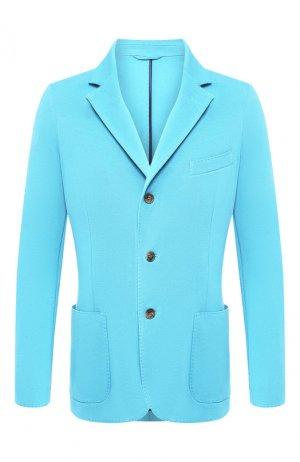 Хлопковый пиджак Andrea Campagna. Цвет: зелёный