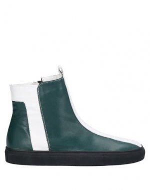 Полусапоги и высокие ботинки ALBERTO FERMANI. Цвет: темно-зеленый