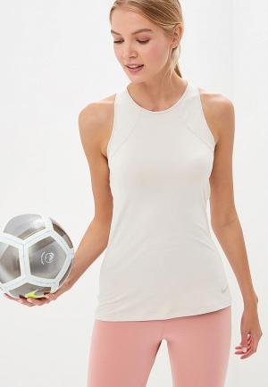 Майка спортивная Nike Womens Pro HyperCool Tank. Цвет: бежевый