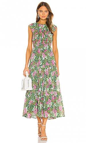 Платье миди iris Banjanan. Цвет: зеленый