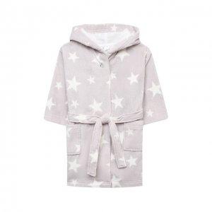 Хлопковый халат Sanetta. Цвет: серый