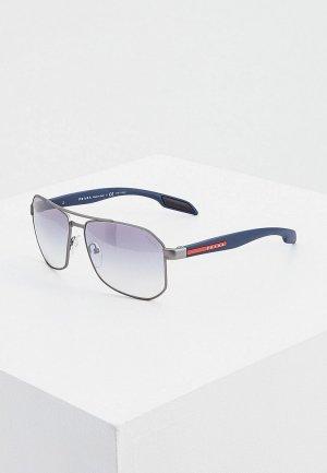 Очки солнцезащитные Prada Linea Rossa PS 51VS DG11J0. Цвет: серый