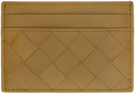 Khaki Intrecciato Card Holder Bottega Veneta. Цвет: 7740 moutar