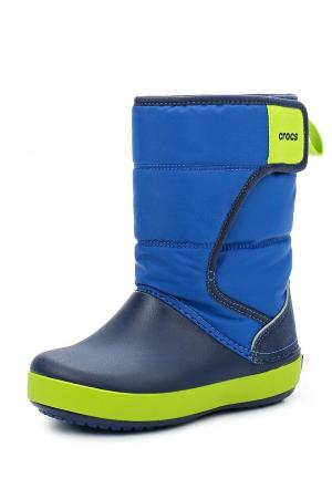 Дутики Crocs LodgePoint Snow Boot K. Цвет: синий