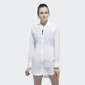 Куртка-бомбер Shavasana Performance adidas. Цвет: белый