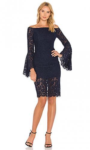 Кружевное платье solange Bardot. Цвет: синий