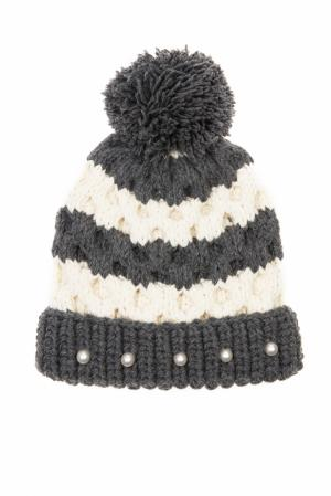 Шерстяная шапка 7II. Цвет: серый