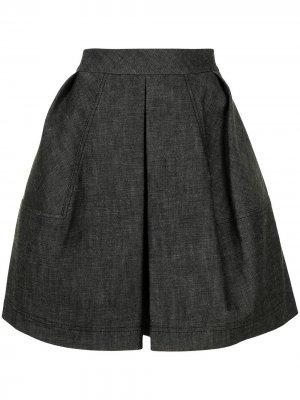 Джинсовая юбка мини А-силуэта Dice Kayek. Цвет: черный