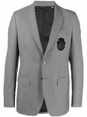 Пиджак Super Slim с вышивкой Billionaire. Цвет: белый