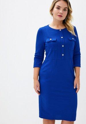 Платье Lacy. Цвет: синий